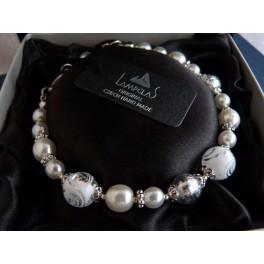 Luxusní náramek z ručně vinutých perlí